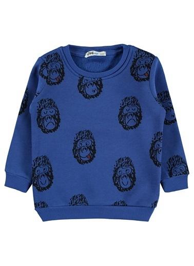 Civil Boys Erkek Çocuk Sweatshirt 2-5 Yaş Saks Mavisi Erkek Çocuk Sweatshirt 2-5 Yaş Saks Mavisi Saks